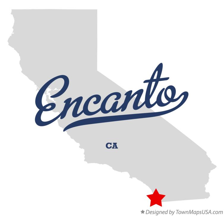 Map of Encanto California CA