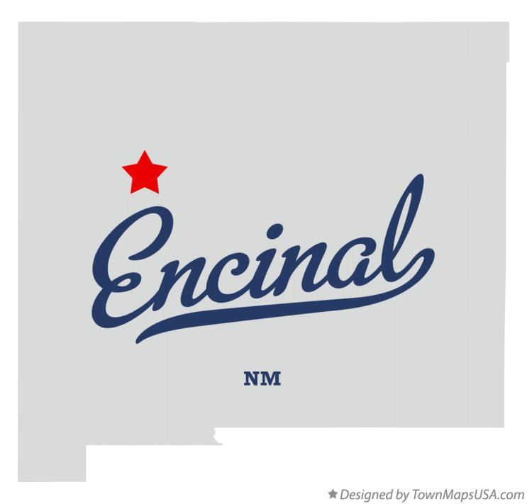 Map of Encinal New Mexico NM