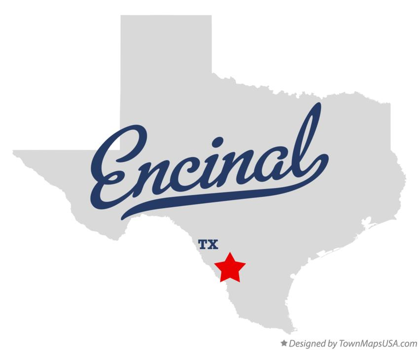 Map of Encinal Texas TX