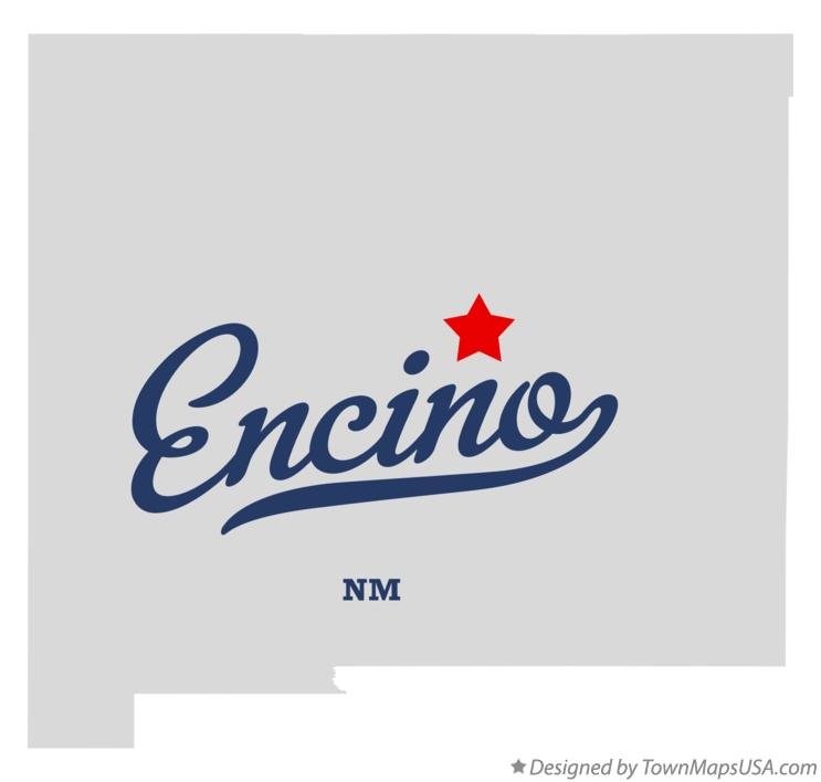 Map of Encino New Mexico NM