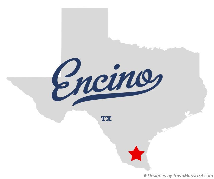 Map of Encino Texas TX