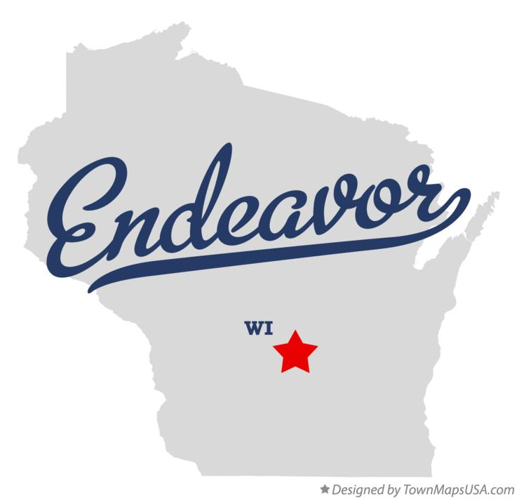 Map of Endeavor Wisconsin WI