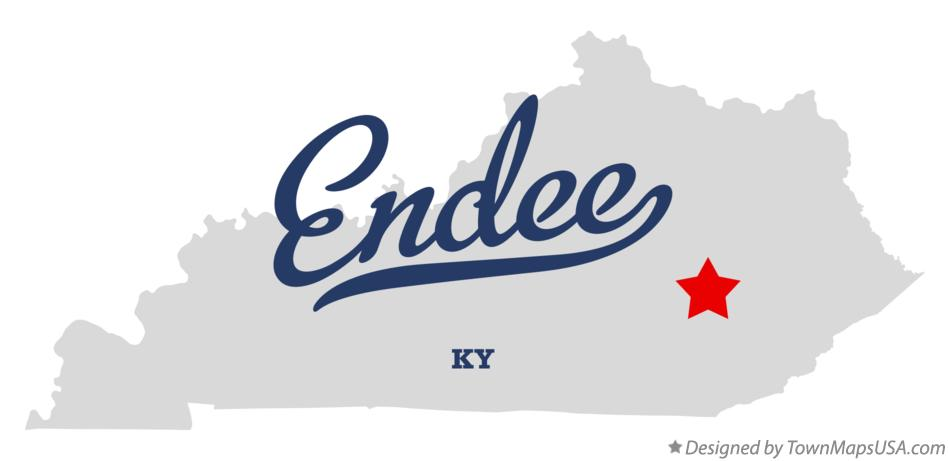 Map of Endee Kentucky KY