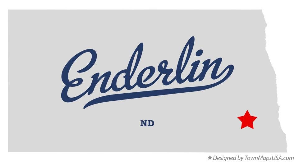 Map of Enderlin North Dakota ND