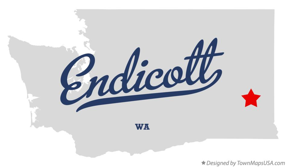 Map of Endicott Washington WA