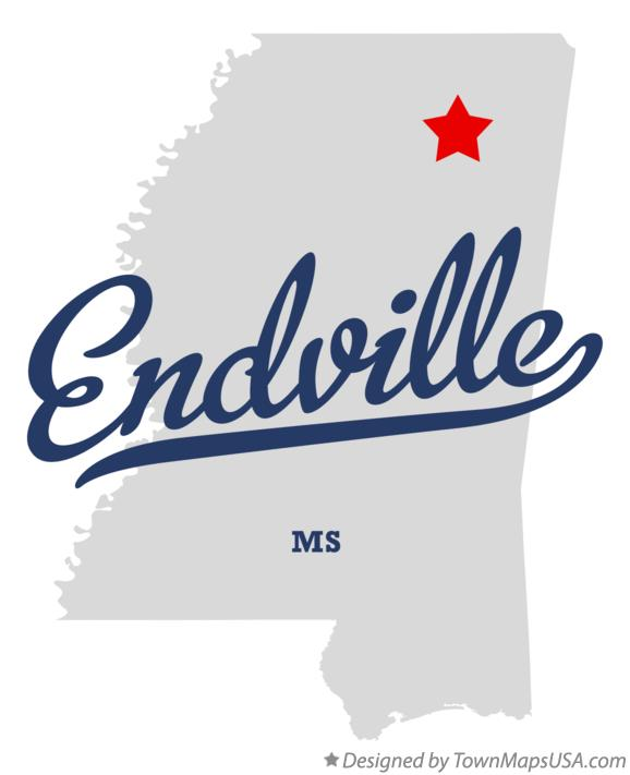 Map of Endville Mississippi MS