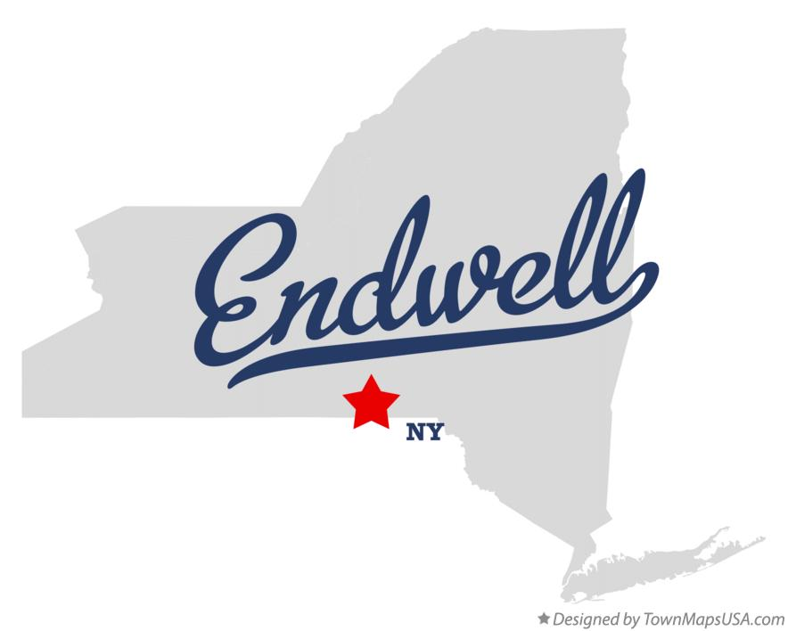 Map of Endwell New York NY