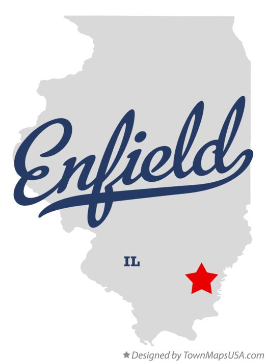 Map of Enfield Illinois IL