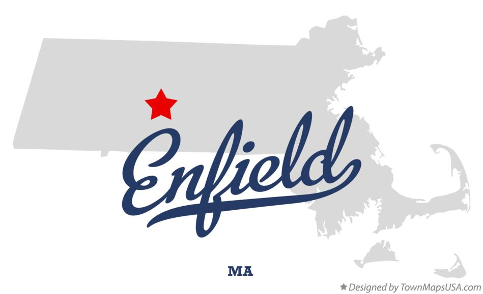 Map of Enfield Massachusetts MA