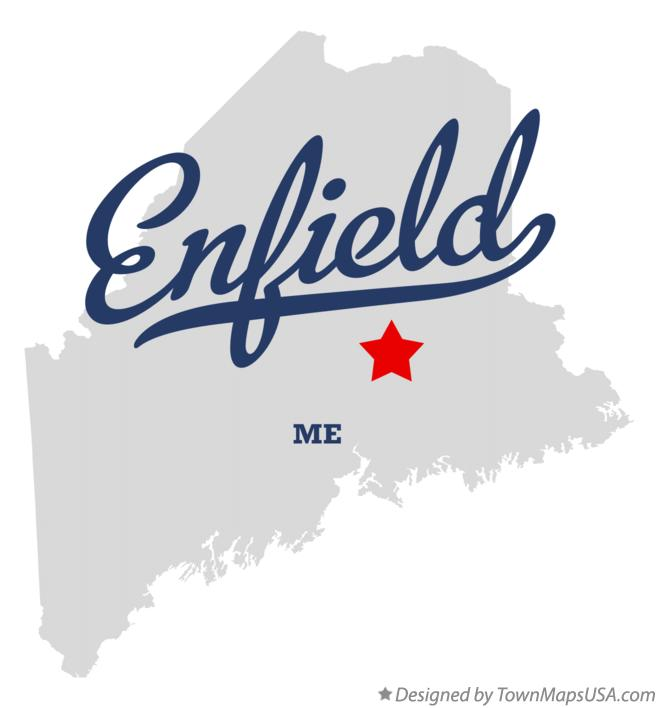 Map of Enfield Maine ME