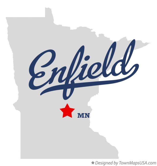 Map of Enfield Minnesota MN