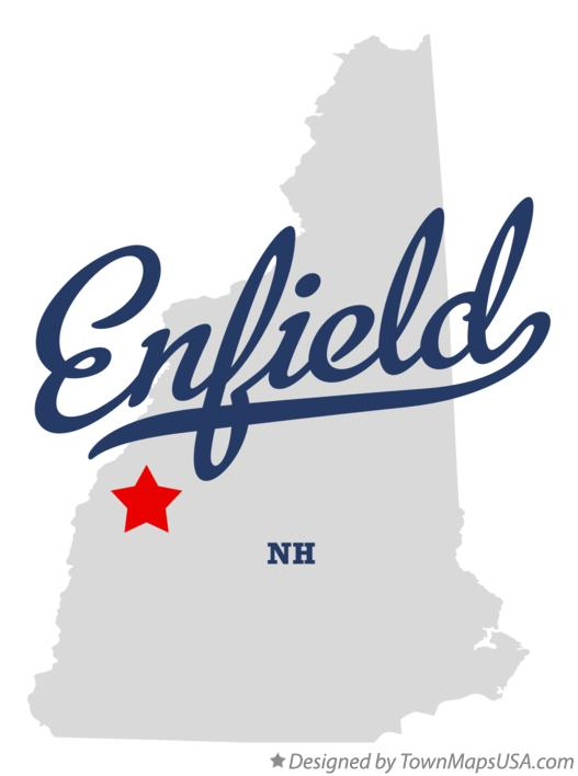 Map of Enfield New Hampshire NH