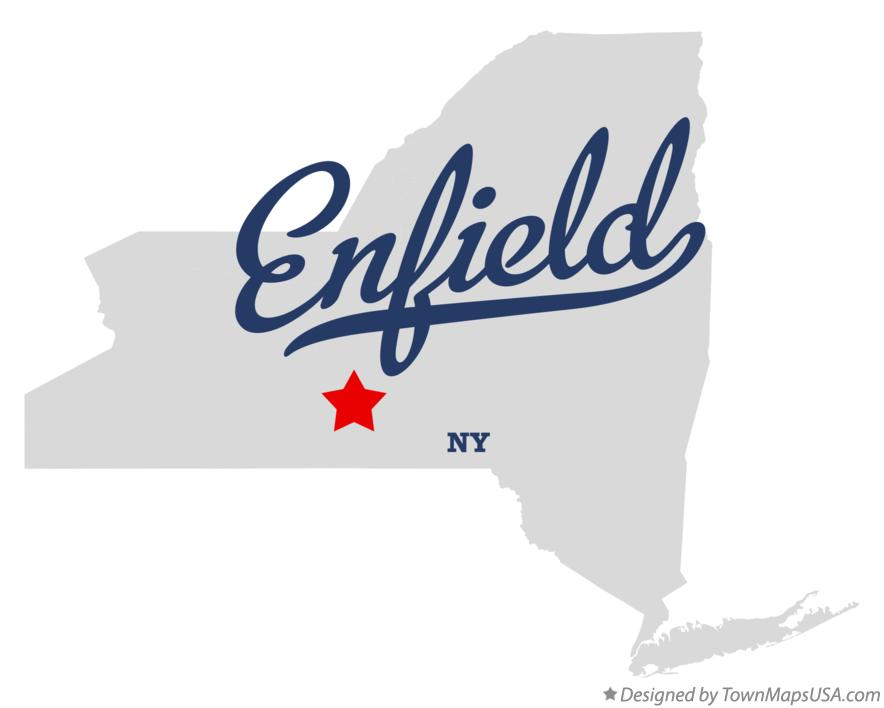 Map of Enfield New York NY
