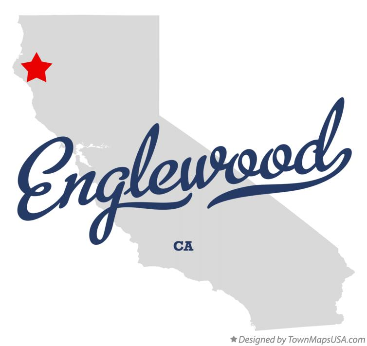 Map of Englewood California CA