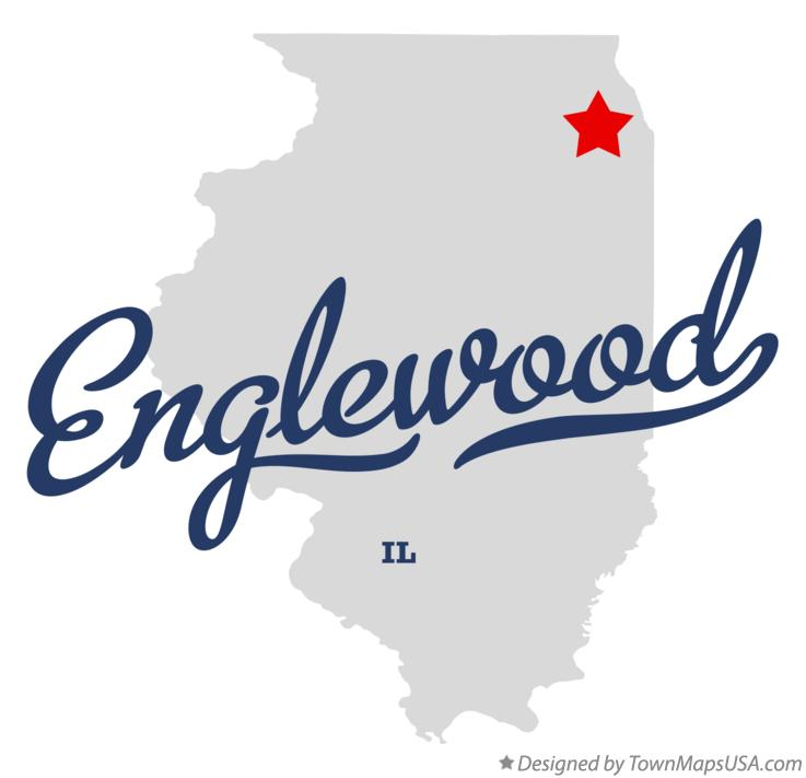 Map of Englewood Illinois IL