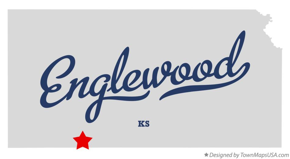 Map of Englewood Kansas KS