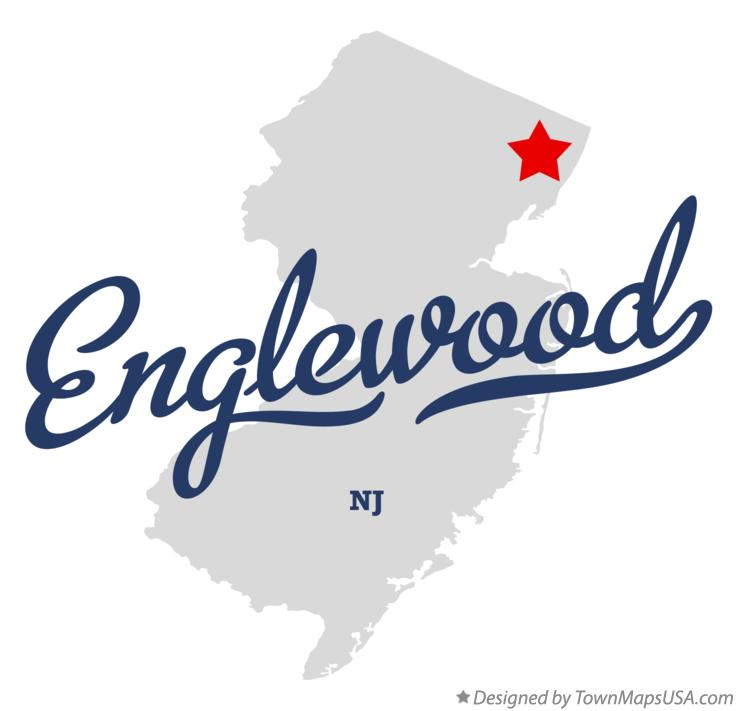 Map of Englewood New Jersey NJ