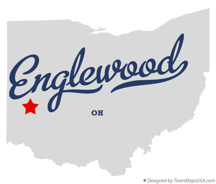 Map of Englewood Ohio OH