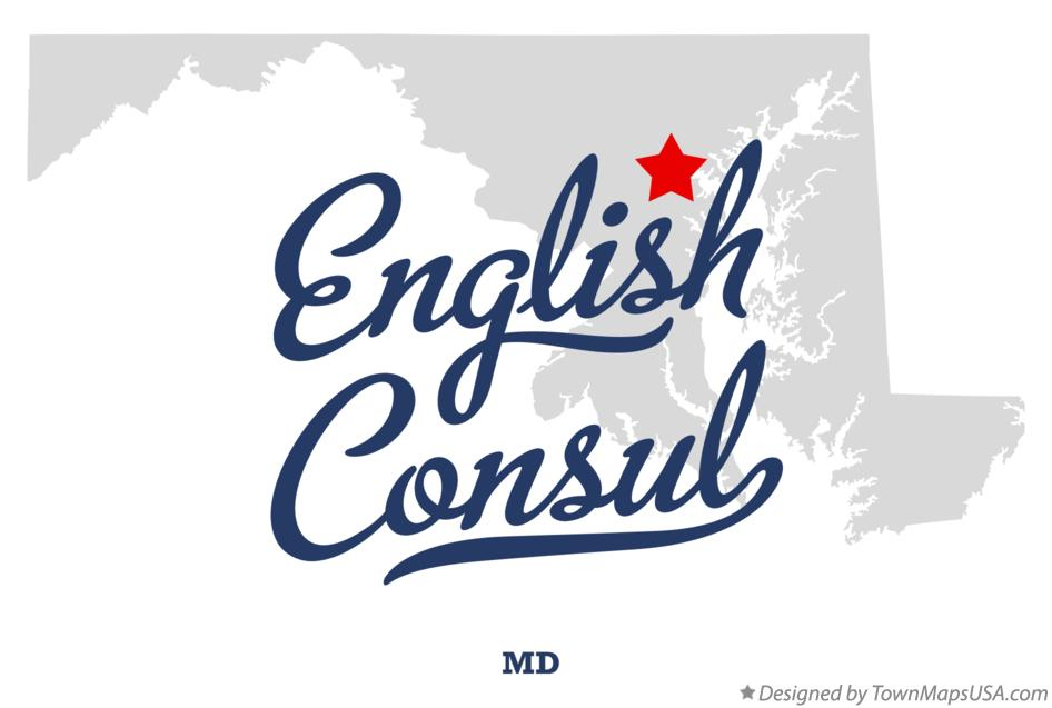 Map of English Consul Maryland MD
