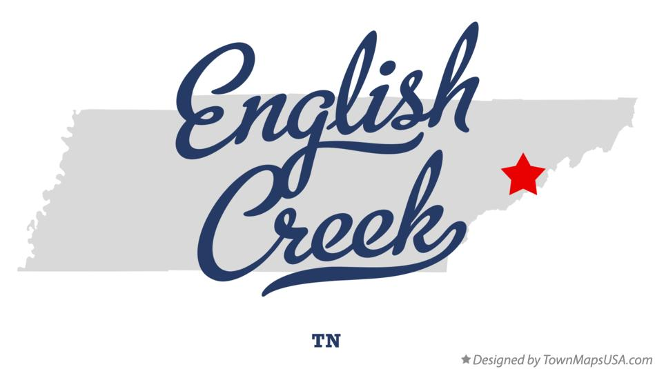 Map of English Creek Tennessee TN