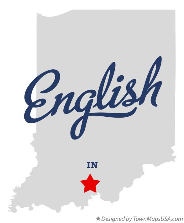 Map of English Indiana IN