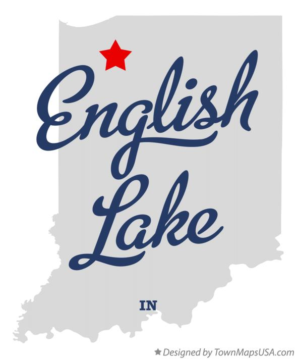 Map of English Lake Indiana IN