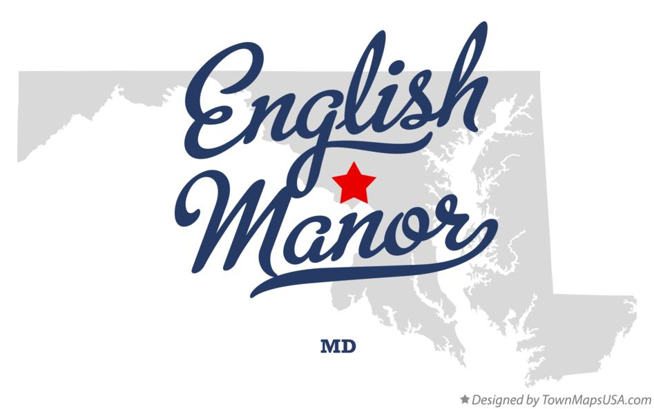 Map of English Manor Maryland MD