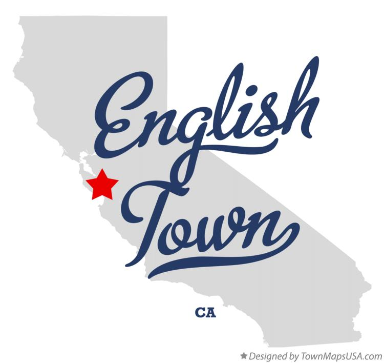 Map of English Town California CA