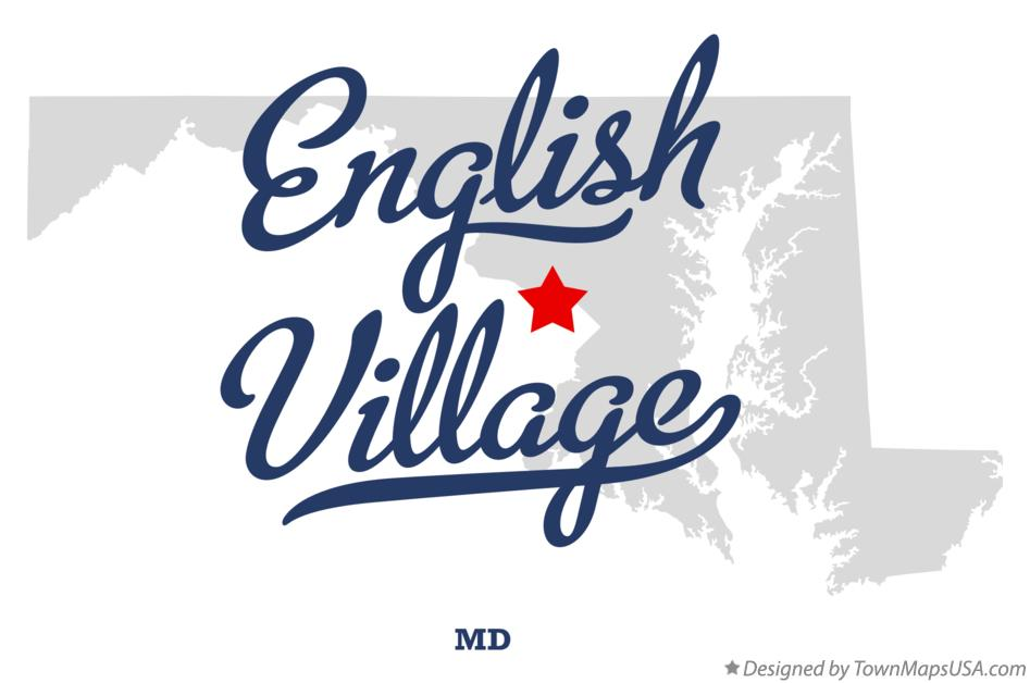 Map of English Village Maryland MD