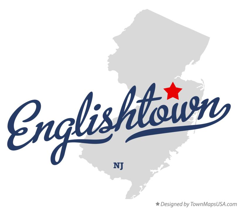 Map of Englishtown New Jersey NJ