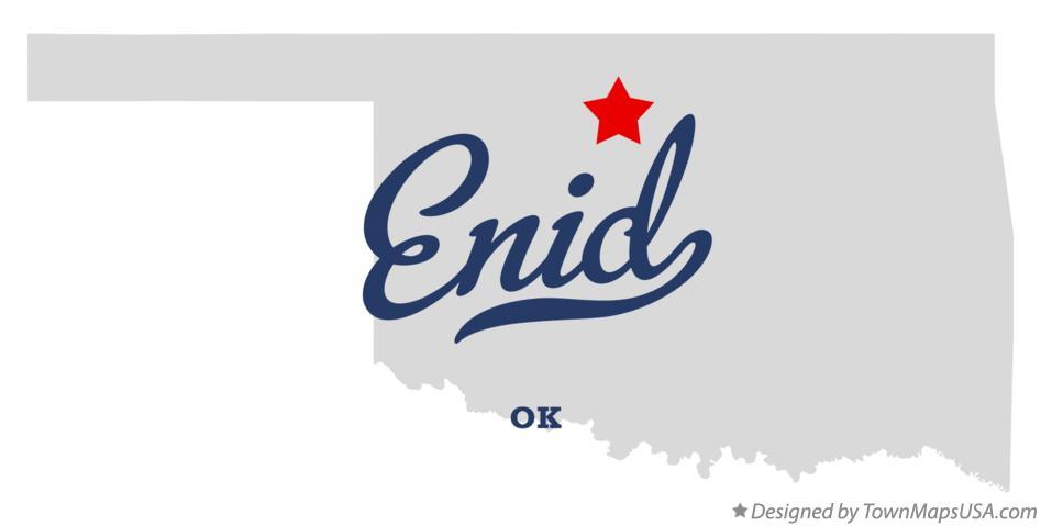 Map of Enid OK Oklahoma