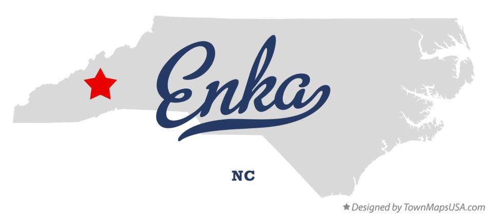 Map of Enka North Carolina NC