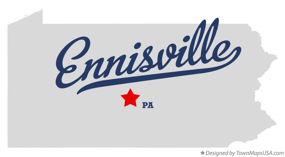Map of Ennisville Pennsylvania PA