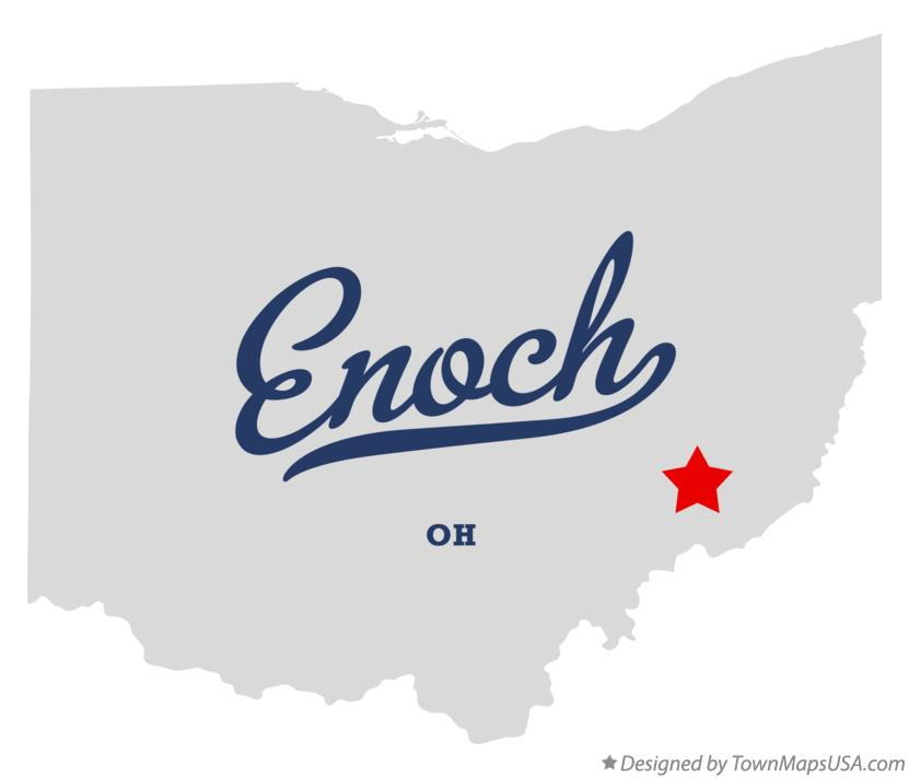 Map of Enoch Ohio OH