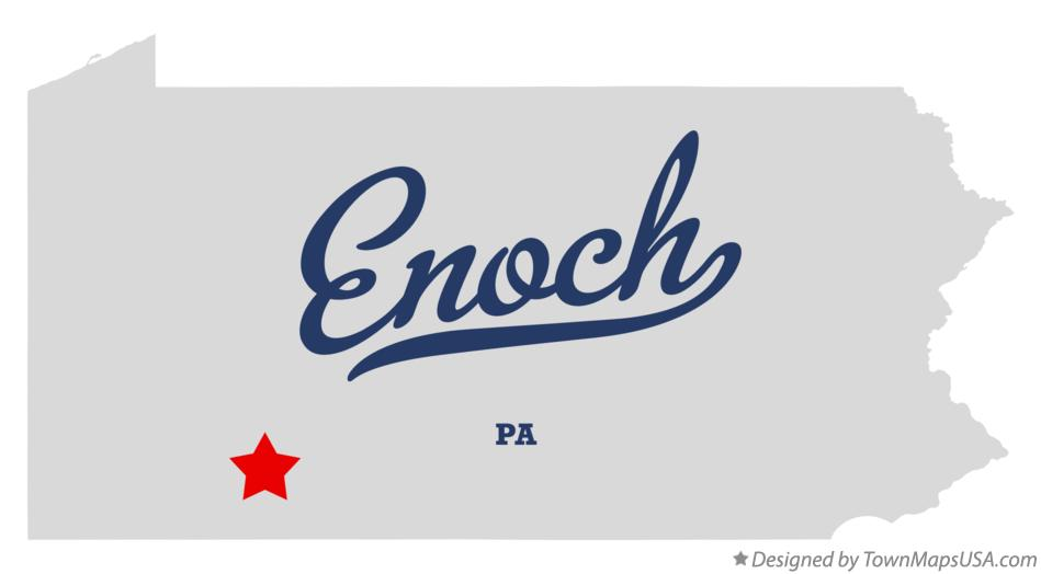 Map of Enoch Pennsylvania PA