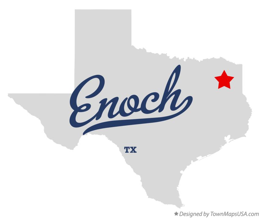Map of Enoch Texas TX