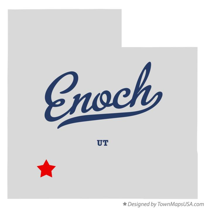 Map of Enoch Utah UT