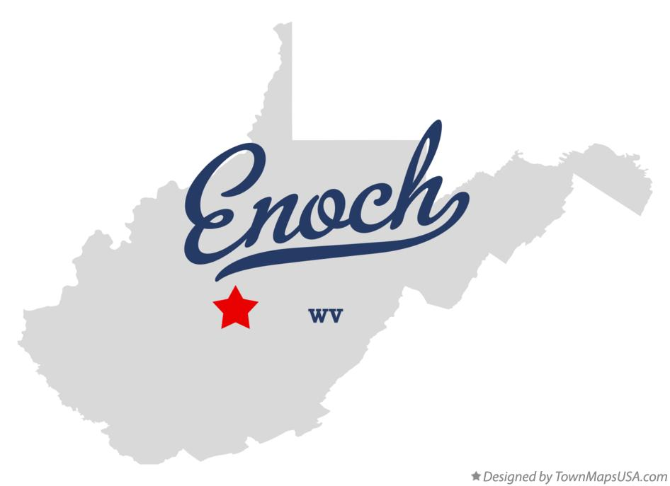 Map of Enoch West Virginia WV