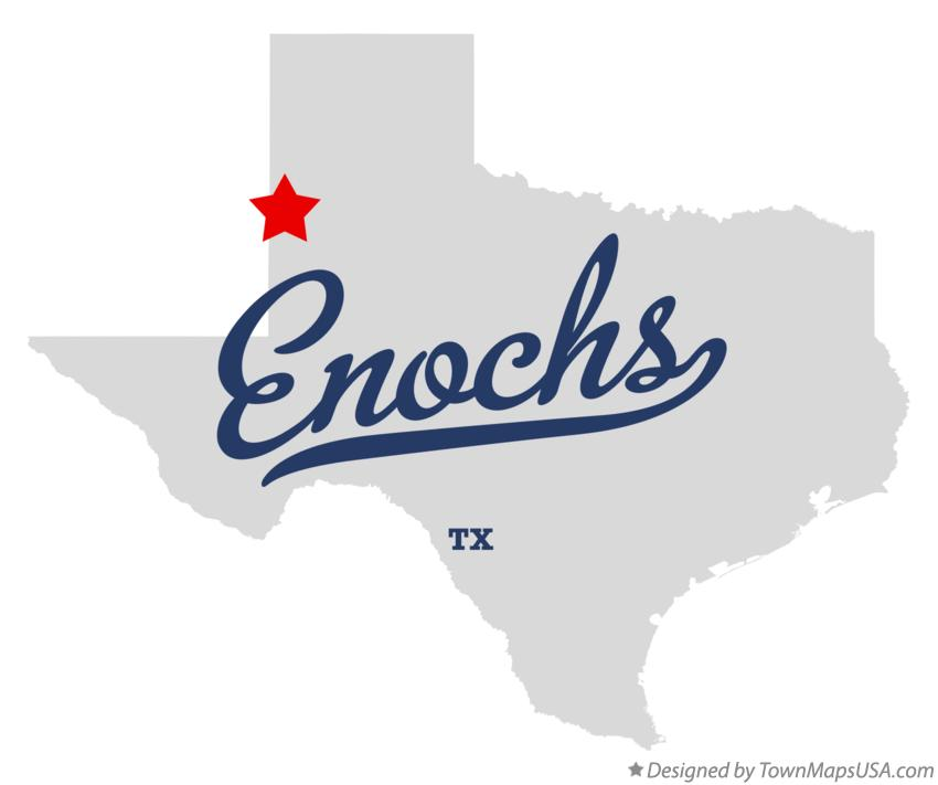 Map of Enochs Texas TX
