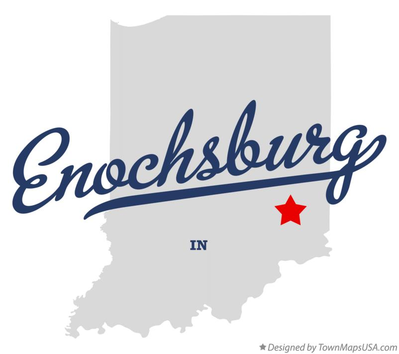 Map of Enochsburg Indiana IN