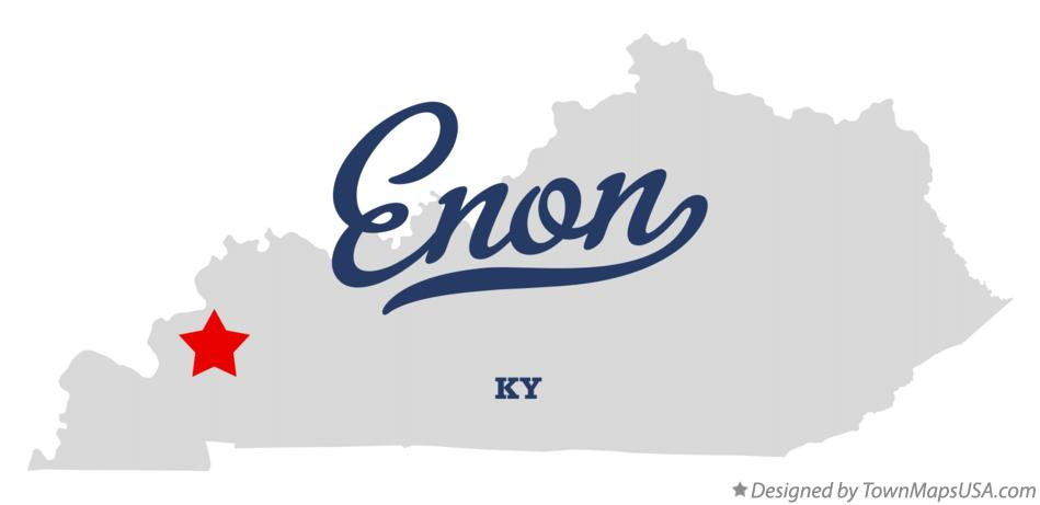 Map of Enon Kentucky KY