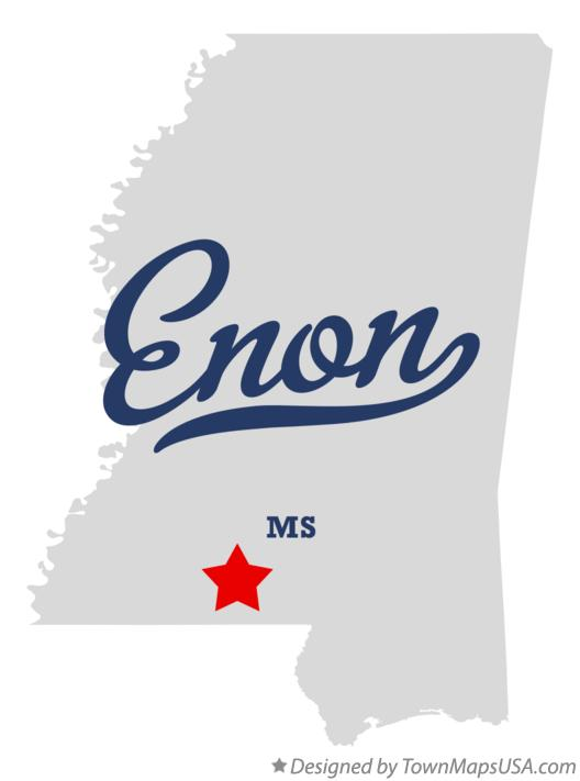 Map of Enon Mississippi MS