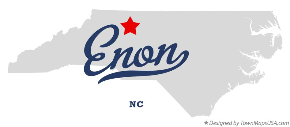 Map of Enon North Carolina NC