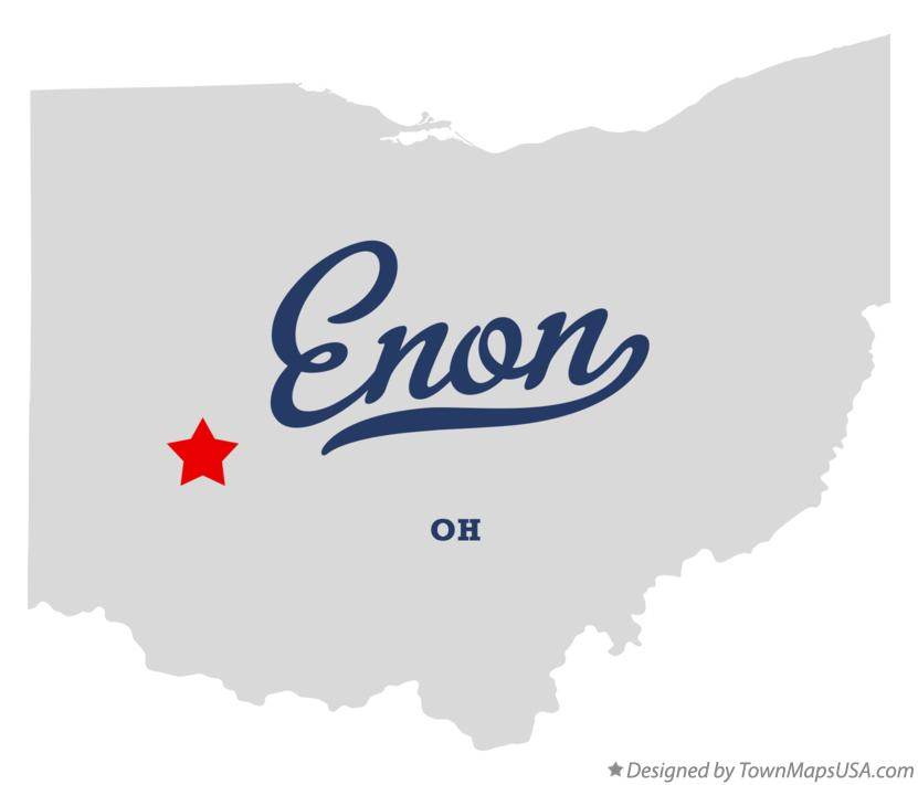Map of Enon Ohio OH