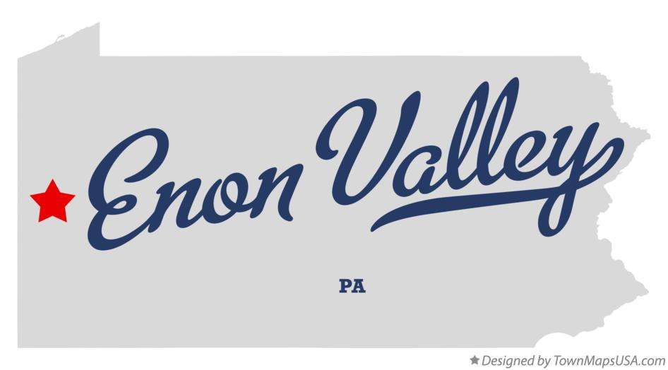 Map of Enon Valley Pennsylvania PA