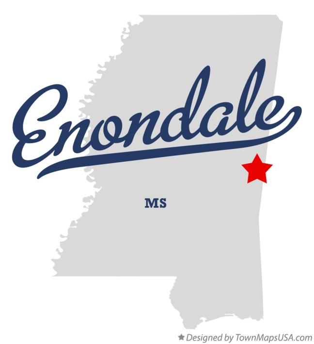 Map of Enondale Mississippi MS
