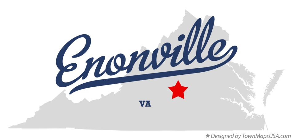 Map of Enonville Virginia VA