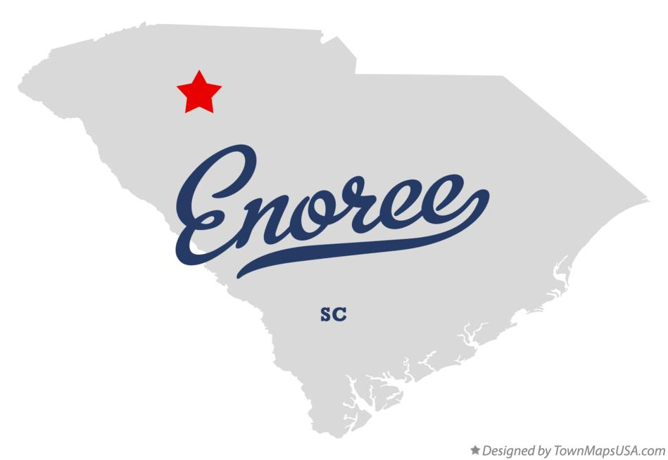 Map of Enoree South Carolina SC
