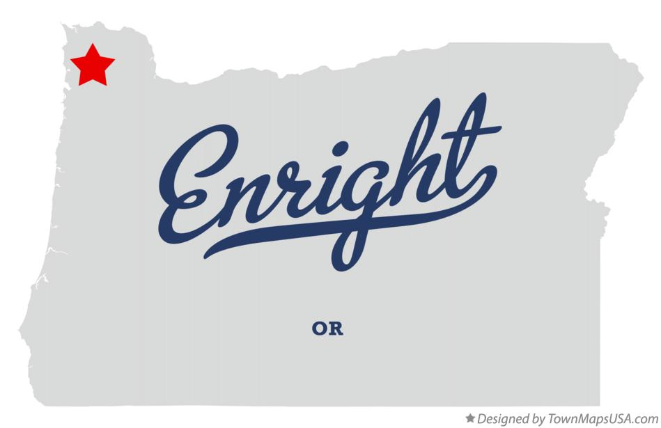 Map of Enright Oregon OR