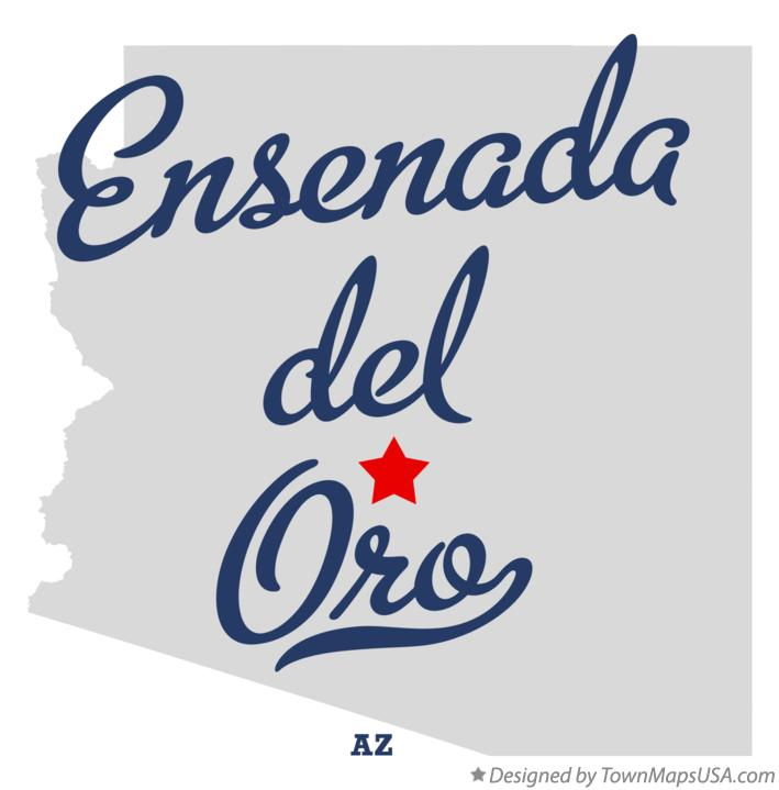 Map of Ensenada del Oro Arizona AZ